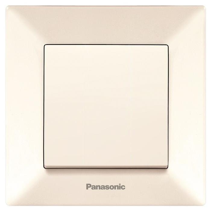 Выключатель Panasonic Arkedia, одноклавишный, цвет: кремовый, 10 А. 5475654756Предназначен для включения, отключения или переключения электрических цепей