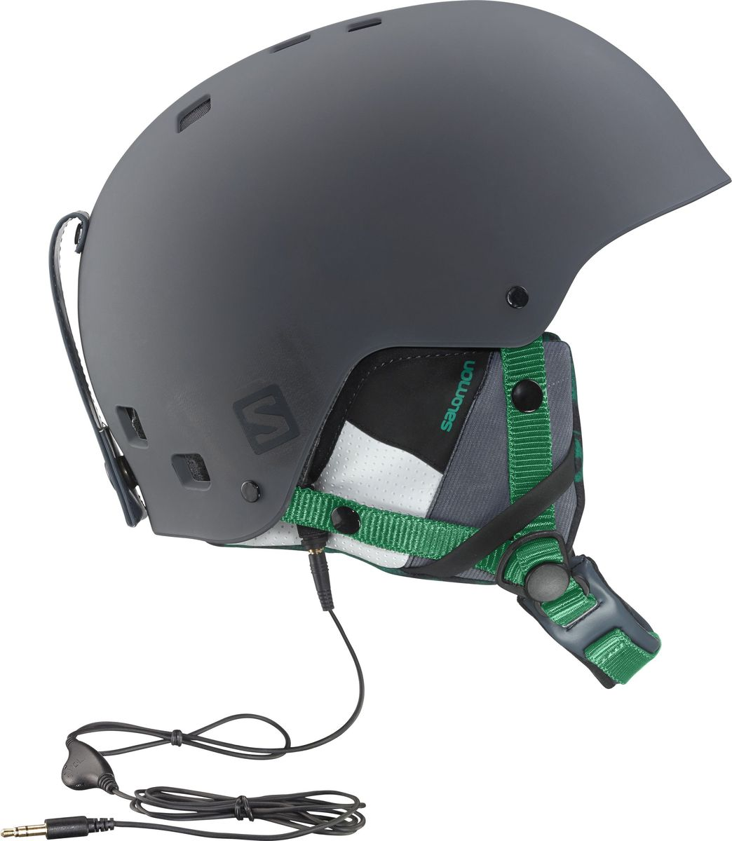 Шлем горнолыжный Salomon Helmet Brigade Audio Grey/Forest Gr. Размер L (58/59) шлем горнолыжный salomon helmet brigade audio grey forest gr размер l 58 59