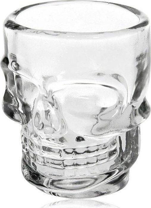 Набор стопок Череп, 6 шт. 9807898078Оригинальный набор стеклянных стопок в виде черепа. Упаковка - красочный картон с фотопечатью.