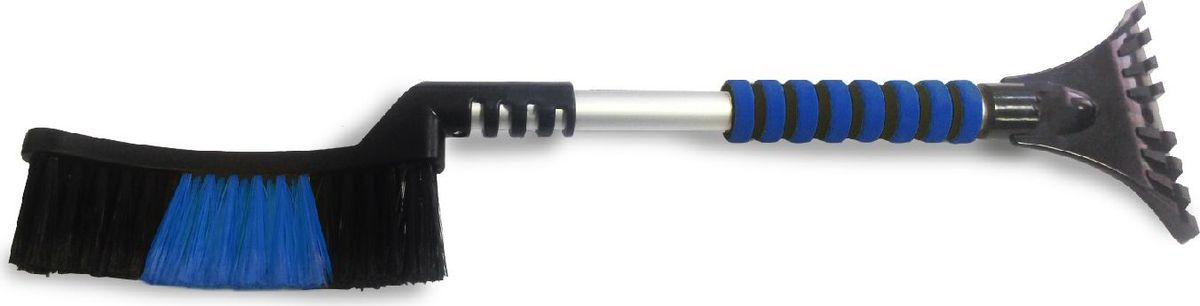 Щетка-скребок AVS WB-6321, распушенная щетина, 63 cм щетка скребок avs wb 6318 распушенная щетина цвет черный розовый длина 62 cм