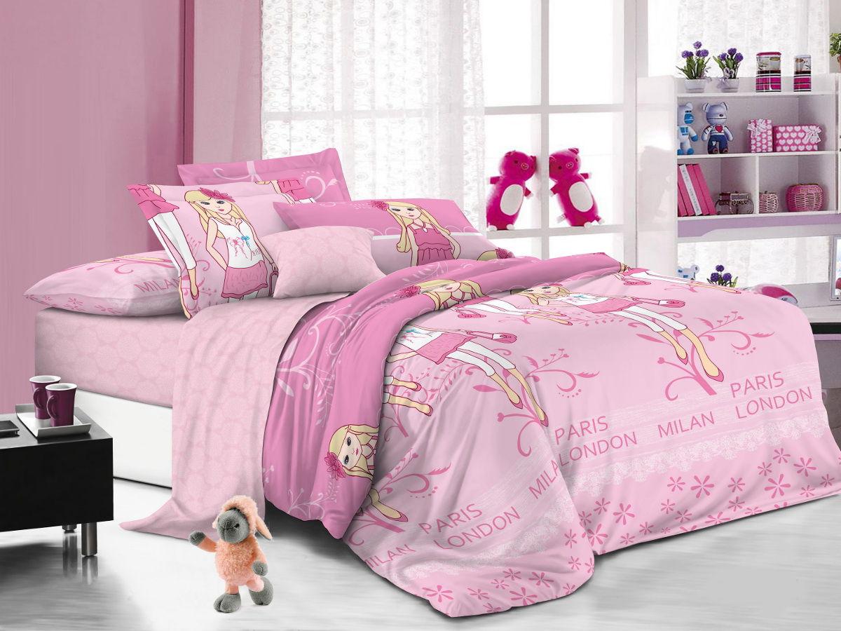Cleo Комплект детского постельного белья Модницы 1,5 спальный цвет розовый