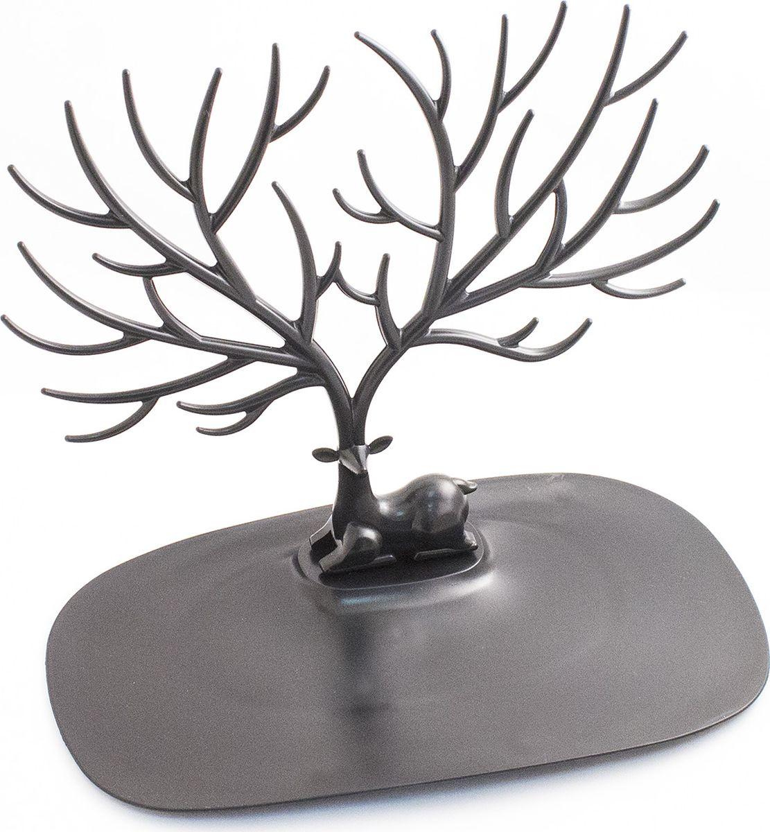 Кольцедержатель Эврика Олень. Малые рога, цвет: черный. 97549 archpole настенные рога с головой дорогой олень