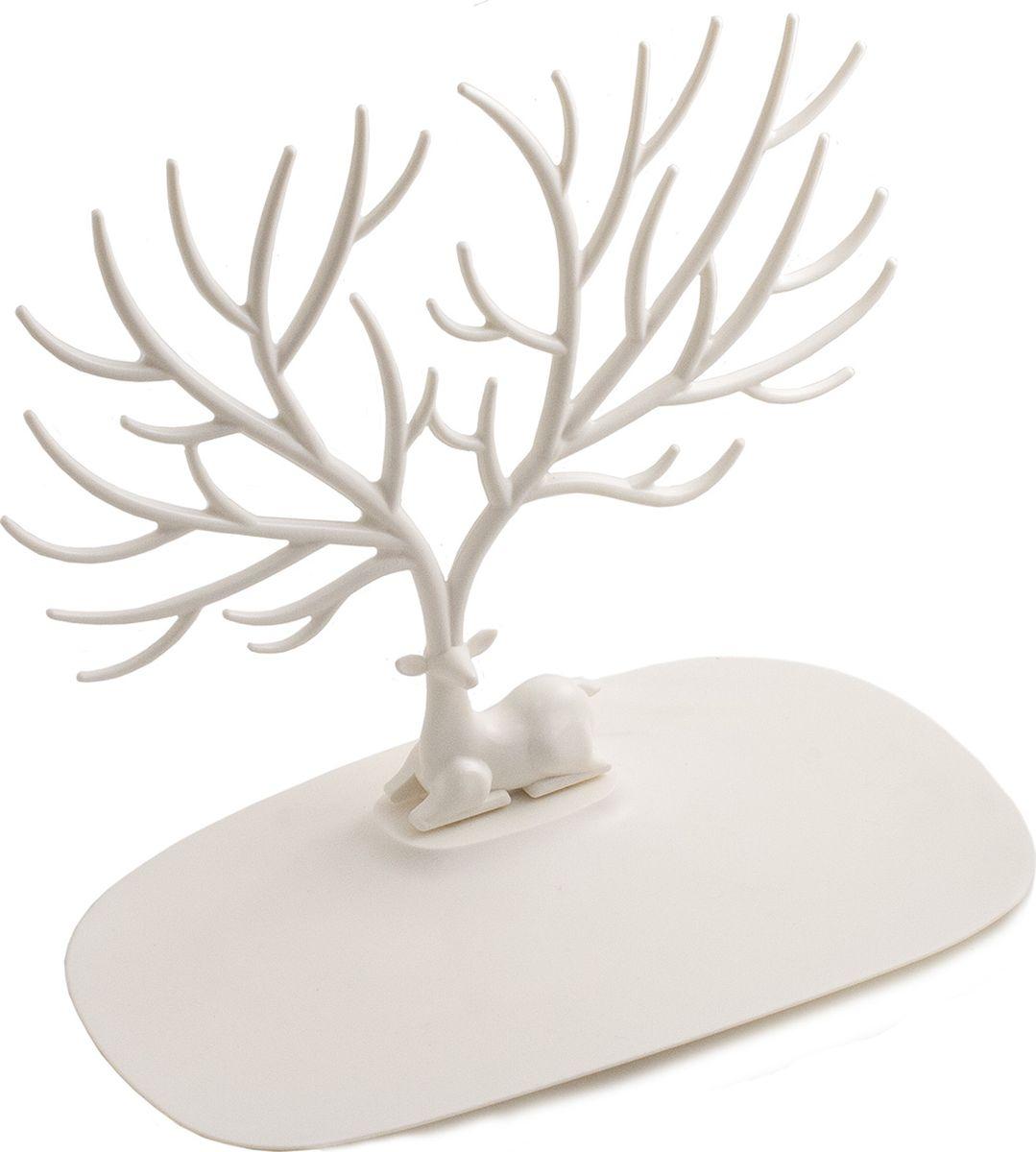 Кольцедержатель Эврика Олень. Малые рога, цвет: белый. 97550 archpole настенные рога с головой дорогой олень