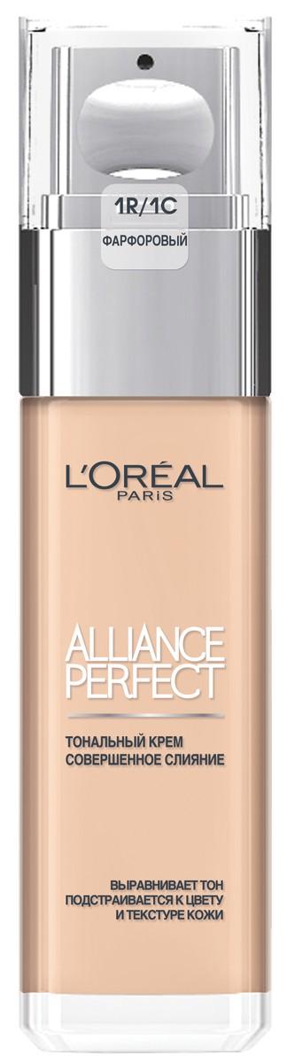 L'Oreal Paris Тональный крем Alliance Perfect Совершенное слияние, выравнивающий и увлажняющий, оттенок 1R, фарфоровый, 30 мл