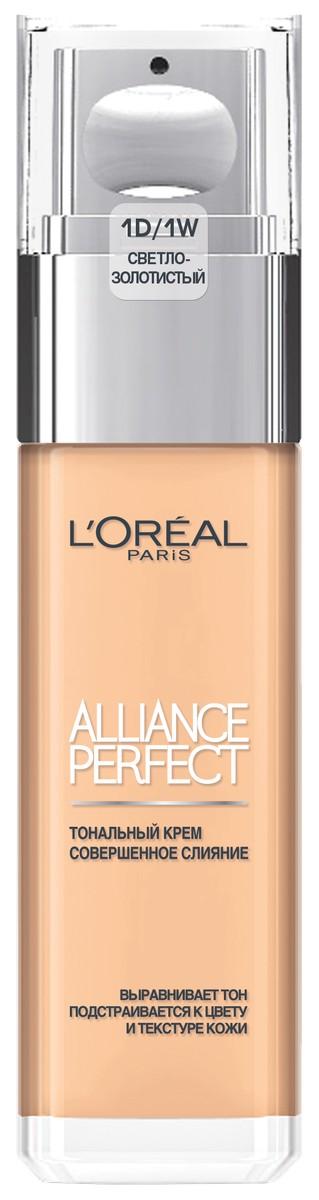 L'Oreal Paris Тональный крем Alliance Perfect Совершенное слияние, выравнивающий и увлажняющий, оттенок 1D, светло-золотистый, 30 мл