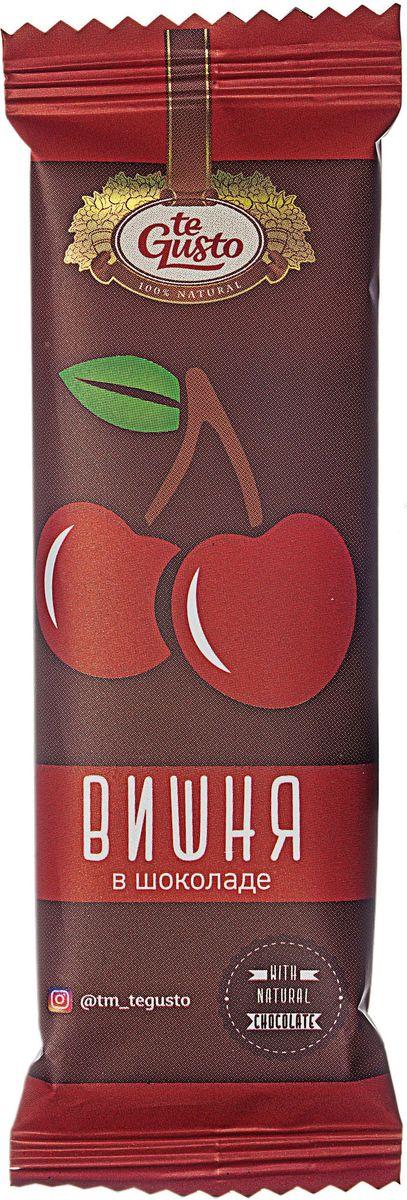 te Gusto фруктовый батончик из вишни в шоколаде, 30 г фруктовый батончик из абрикоса te gusto 25 г