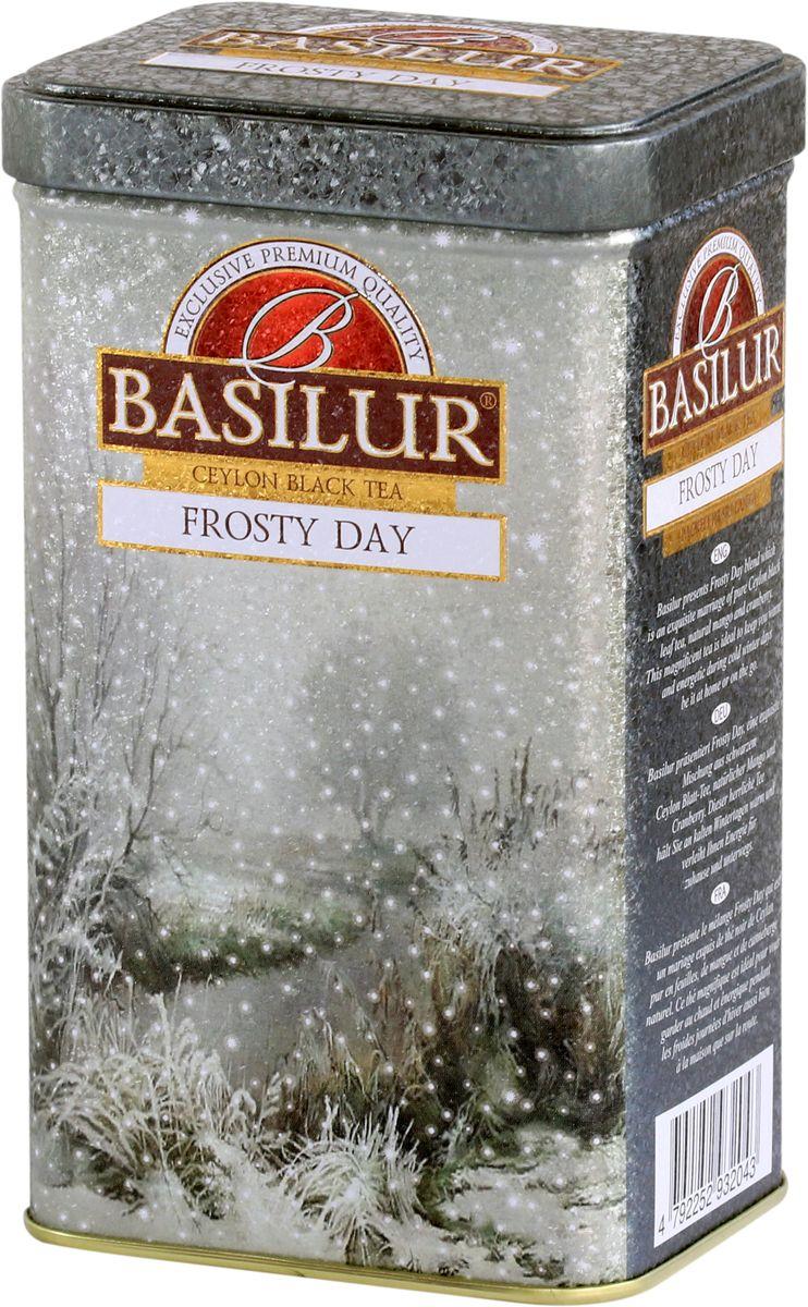 Basilur Frosty Day черный листовой чай, 85 г basilur frosty afternoon черный листовой чай 100 г жестяная банка