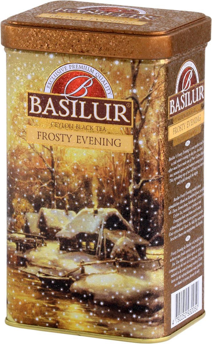 Basilur Frosty Evening черный листовой чай, 85 г basilur frosty afternoon черный листовой чай 100 г жестяная банка