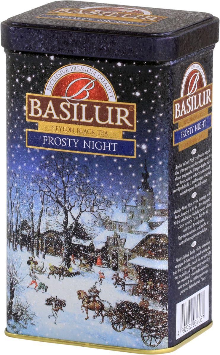 Basilur Frosty Night черный листовой чай, 85 г basilur frosty afternoon черный листовой чай 100 г жестяная банка