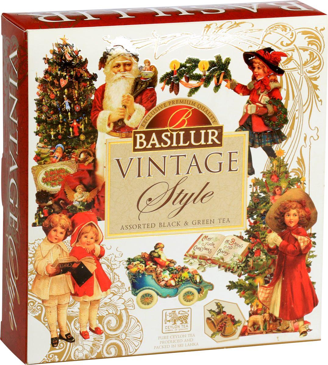 Basilur Vintage Assorted подарочный набор, 40 шт подарочный набор чаем и медом