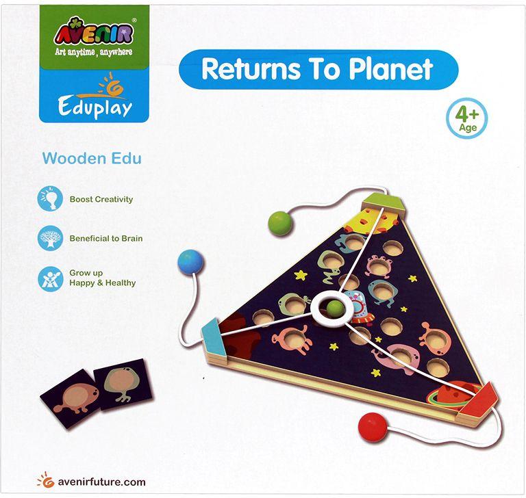 Avenir Настольная игра Возвращение на планету avenir развивающая игра деревянный лабиринт с магнитными шариками