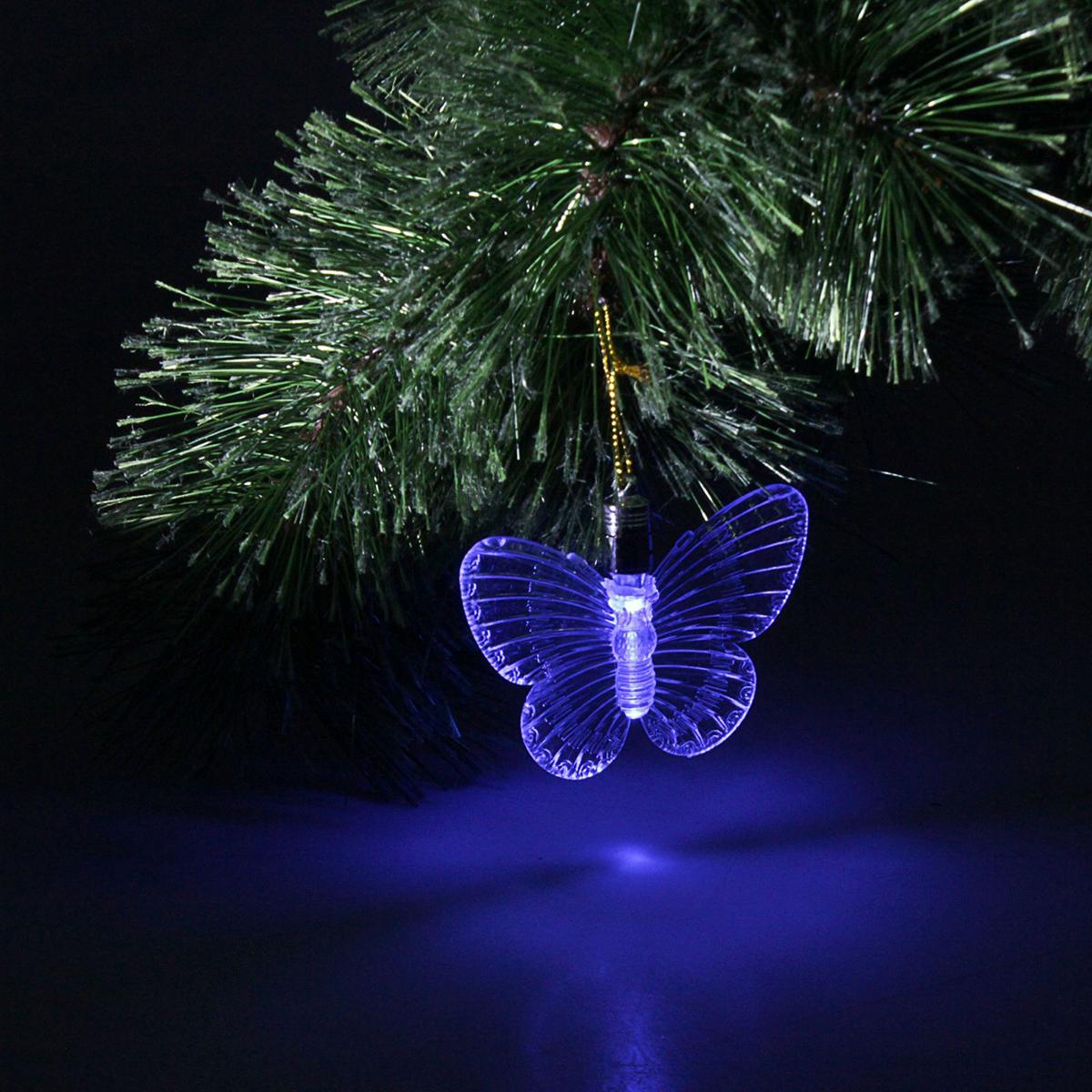 Украшение подвесное Luazon Бабочка, с подсветкой704846Маленькая, но яркая подвеска-бабочка нежно светится в темноте, добавляя убранству комнаты таинственности и уюта. Оригинальная форма позволяет использовать ее и в качестве новогоднего украшения для праздничной елки в декабре, и как дополнительный источник света круглый год. Удобное крепление- петелька позволяет размещать такое украшение где угодно! Подвеска-бабочка сияет и меняет цвет, она станет достойным акцентом в интерьере вашей спальни или необычным ночником в детской. Батарейки: 3 штуки в комплекте, тип батареек: LR-41.