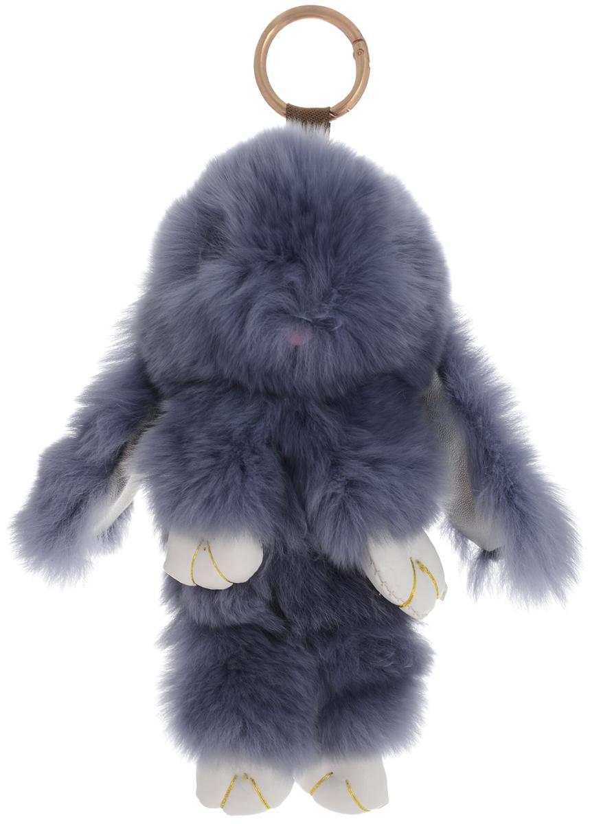 Vebtoy Брелок Пушистый кролик цвет серый БР-102 vebtoy брелок пушистый кролик цвет персиковый бр 305