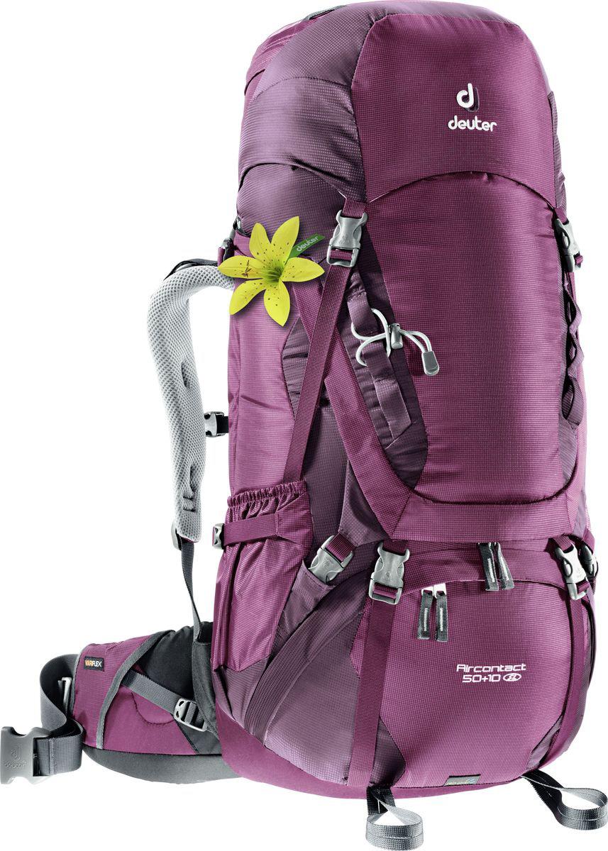 Рюкзак туристический Deuter Aircontact , цвет: фиолетовый, 50 л