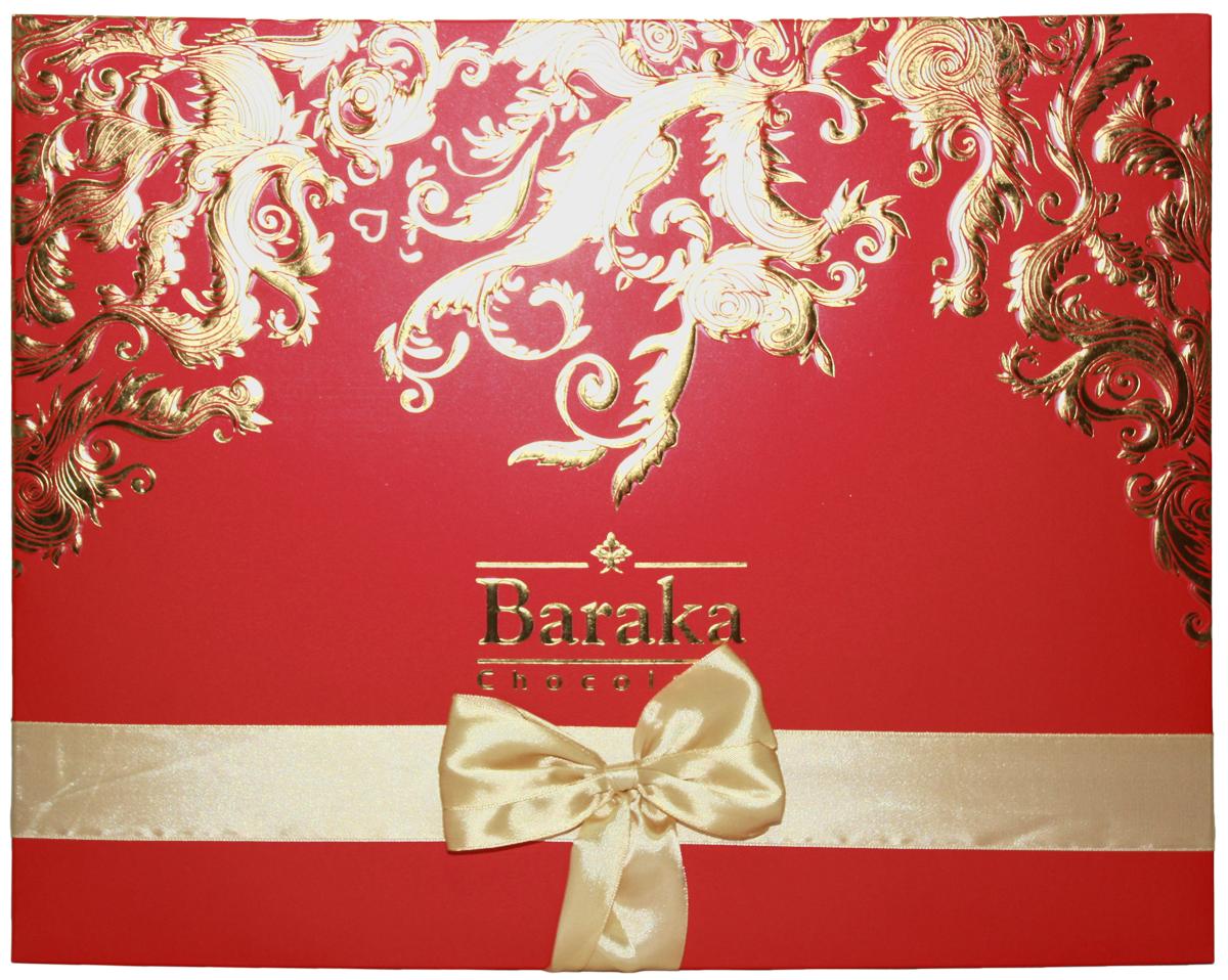 Baraka Симорх ассорти шоколадных конфет, 245 г gbs конфеты фигурные из молочного шоколада с воздушным рисом и вкусом карамели 75 г