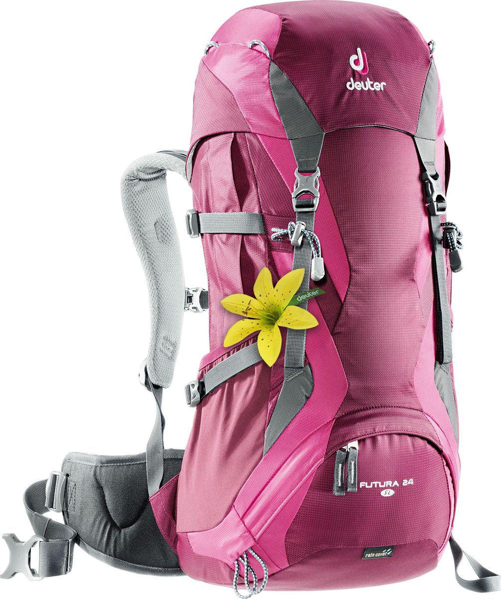 Рюкзак туристический Deuter Futura, цвет: фиолетовый, 24 л городской рюкзак deuter futura 20 sl 20 л фиолетовый розовый 34194 3503