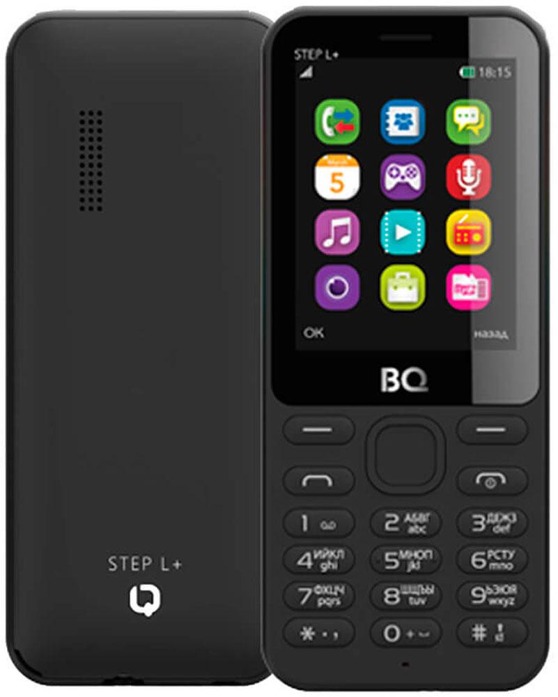 Мобильный телефон BQ 2431 Step L+, черный мобильный телефон bq 2431 step l dark blue