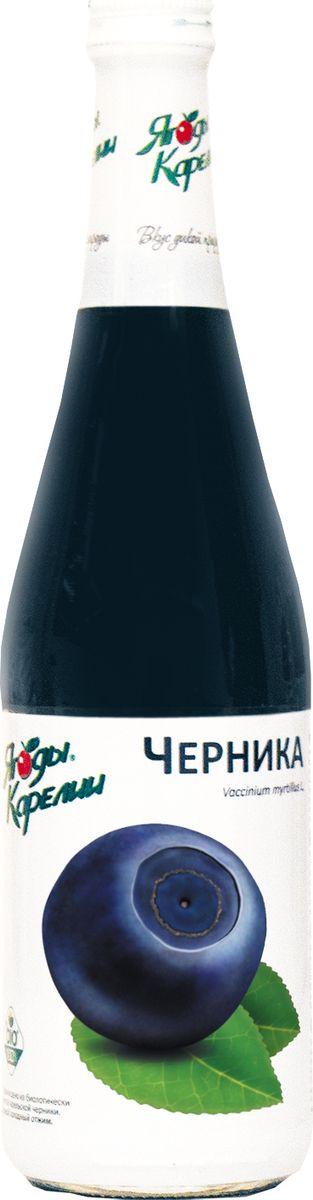 Ягоды Карелии нектар черничный с мякотью, 0,51 л