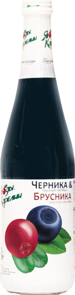 Ягоды Карелии нектар чернично-брусничный с мякотью, 0,51 л