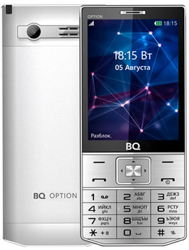 Мобильный телефон BQ 3201 Option, серебристый телефон