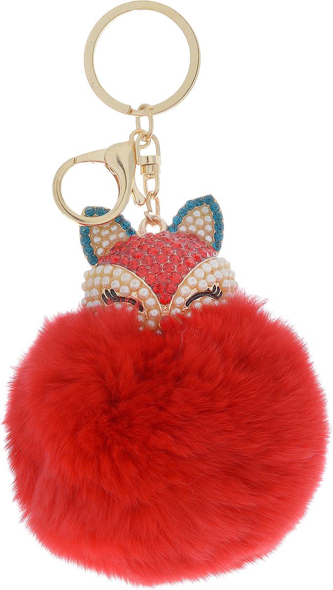 Vebtoy Брелок-игрушка Пушистый котенок цвет красный vebtoy брелок игрушка пушистый кролик цвет красный 22 х 16 х 9 см