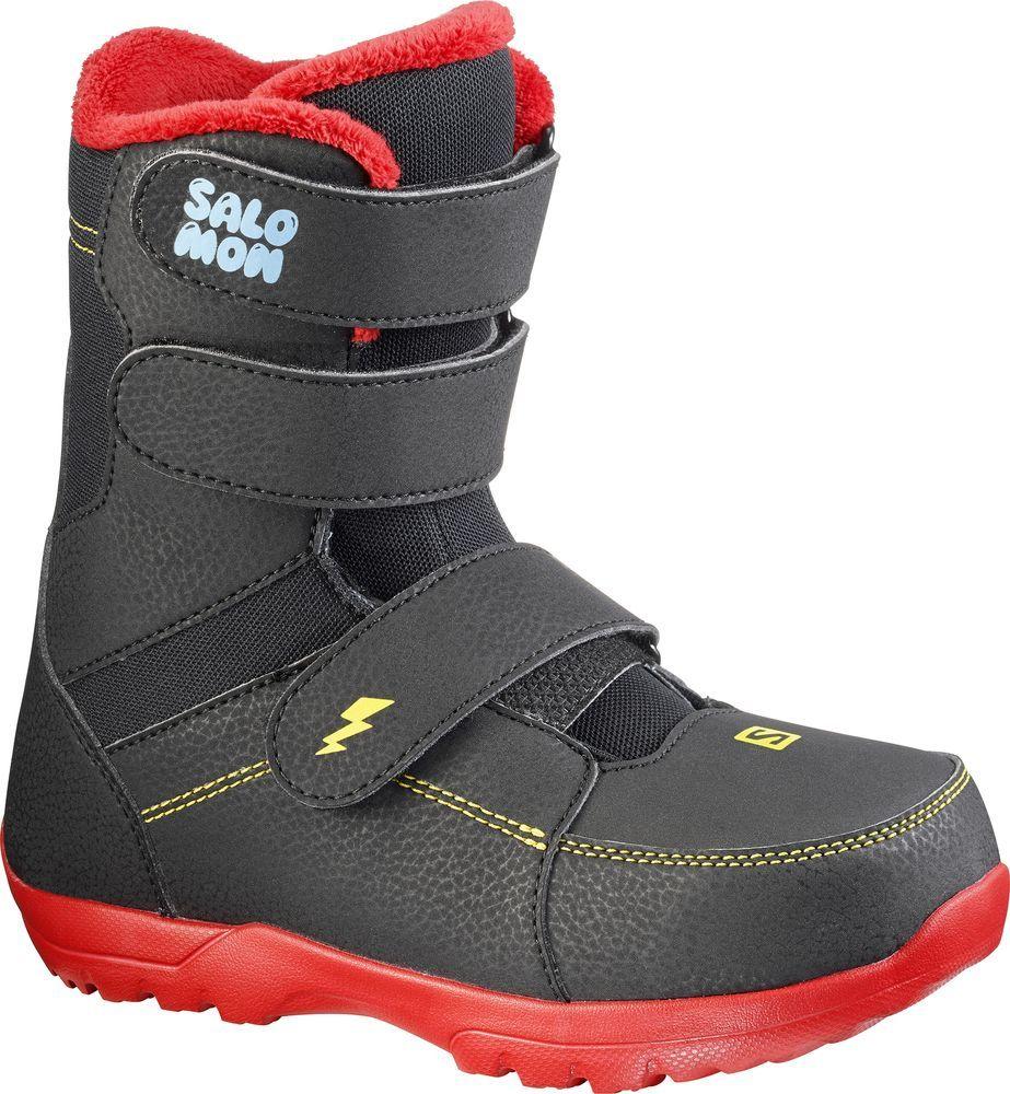 Ботинки для сноуборда Salomon Whipstar, цвет: черный. Размер 22 (33,5)L39949700Ботинки для сноуборда Salomon Whipstar – это специальные ботинки для самых маленьких райдеров, которые позволят им воплотить мечту в явь - стать настоящим сноубордистом. Как выбрать сноуборд. Статья OZON Гид