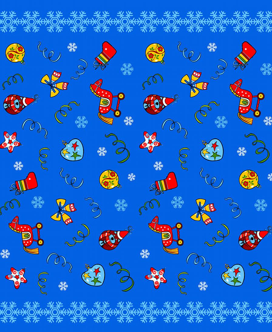 """Скатерть Мультидом """"Новогодние шары"""", цвет: синий, 148 х 225 см"""