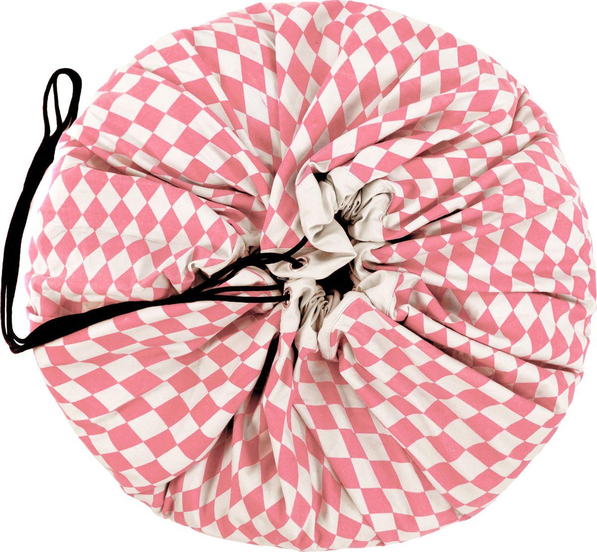 Play&Go Мешок для игрушек Print Розовый бриллиант