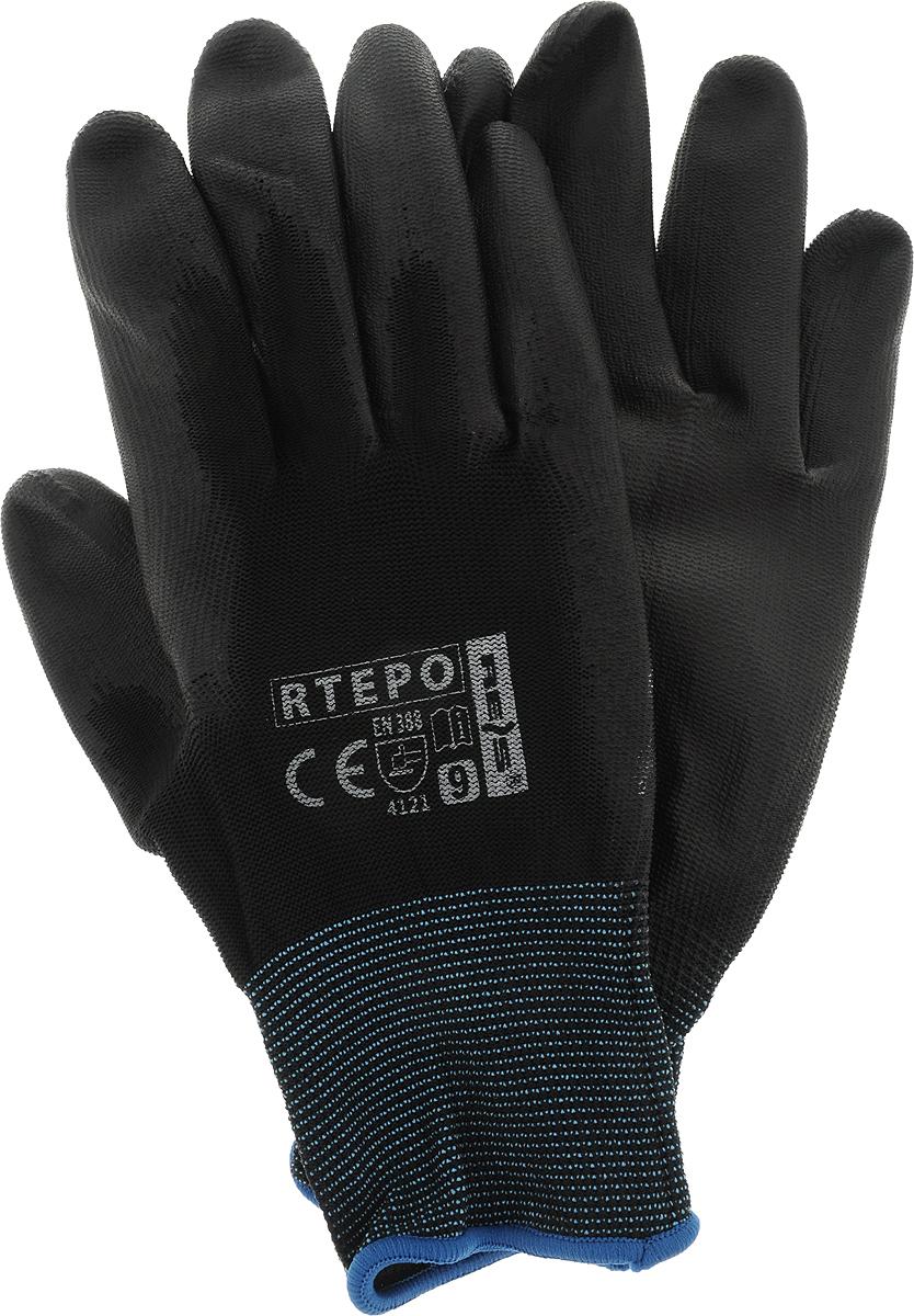 """Перчатки хозяйственные Reis """"Rtepo"""", защитные, размер 9"""