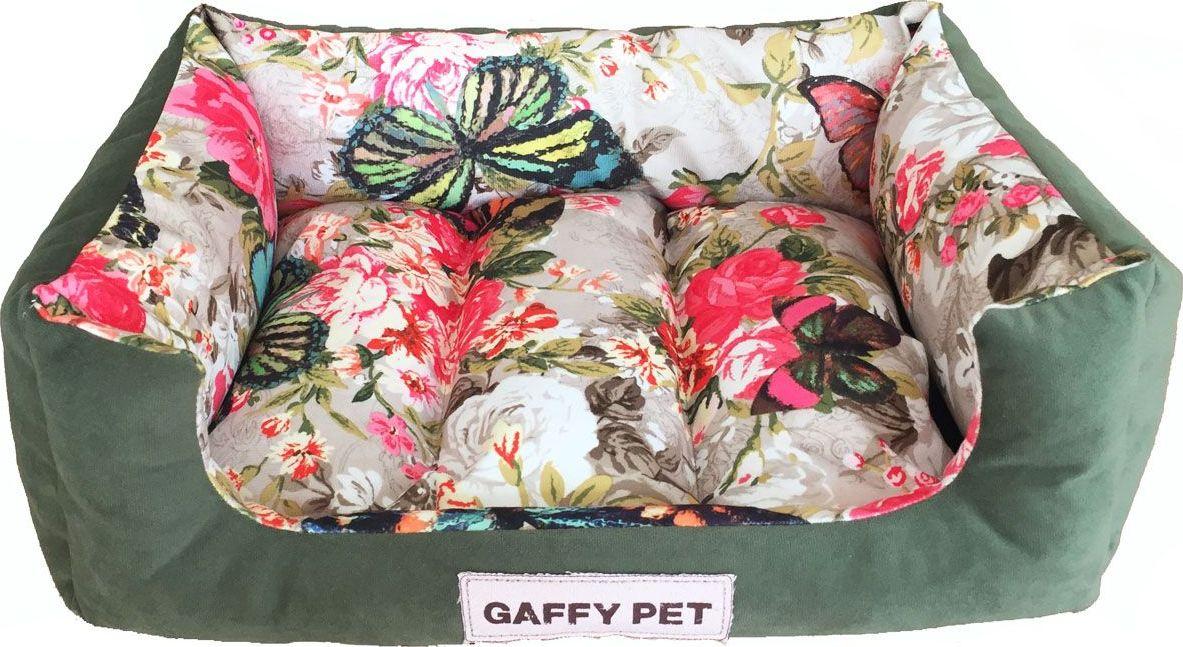 Лежак для животных Gaffy Pet Butterfly, цвет: зеленый, 45 х 35 х 14 см цена