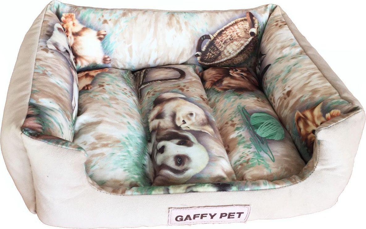 Лежак для животных Gaffy Pet Pets, цвет: бежевый, 45 х 35 х 14 см11238 SЛежак для животных Gaffy Pet обязательно понравится вашему питомцу. Верх лежака выполнен из плотного текстиля. В качестве наполнителя используется мягкий холлофайбер. Изделие имеет высокие бортики, которые отлично держат форму. Использование профессиональных тканей дает владельцам питомцев большое преимущество в чистке и уходе без ущерба внешнему виду. Такой лежак прекрасно впишется в любой современный интерьер.