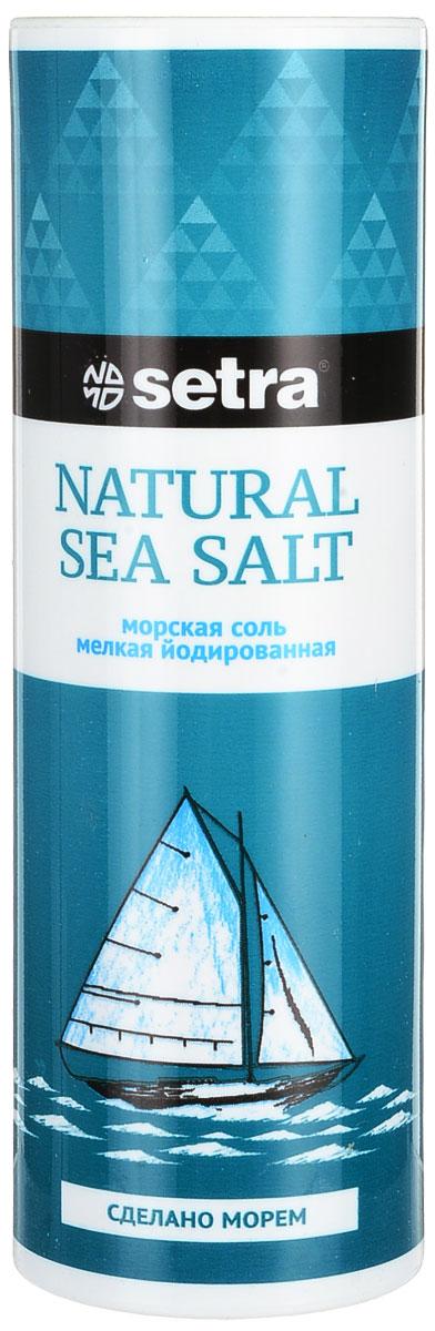 Соль Setra морская мелкая йодированная, 250 г цена