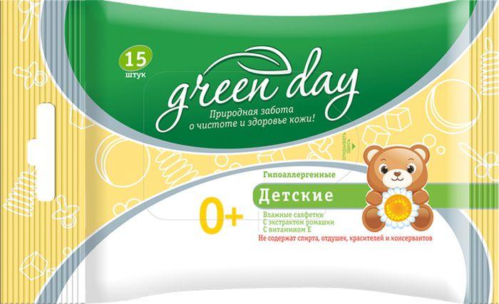 Greenday Салфетки влажные детские 15 шт