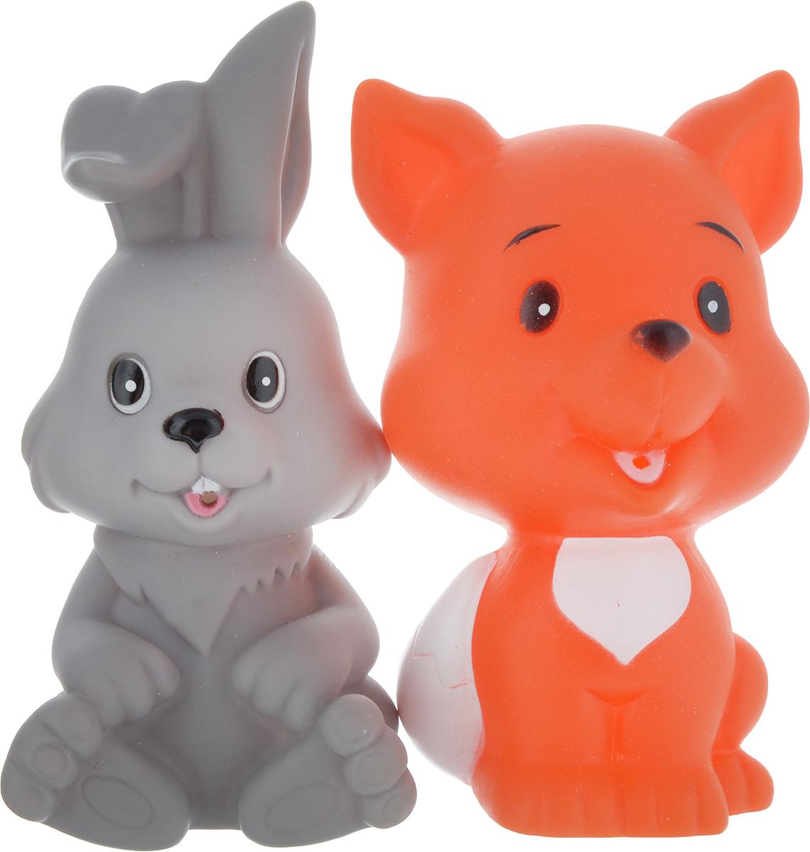 Играем вместе Набор игрушек для ванной Заяц и лиса игрушки для ванной играем вместе набор для купания disney немо