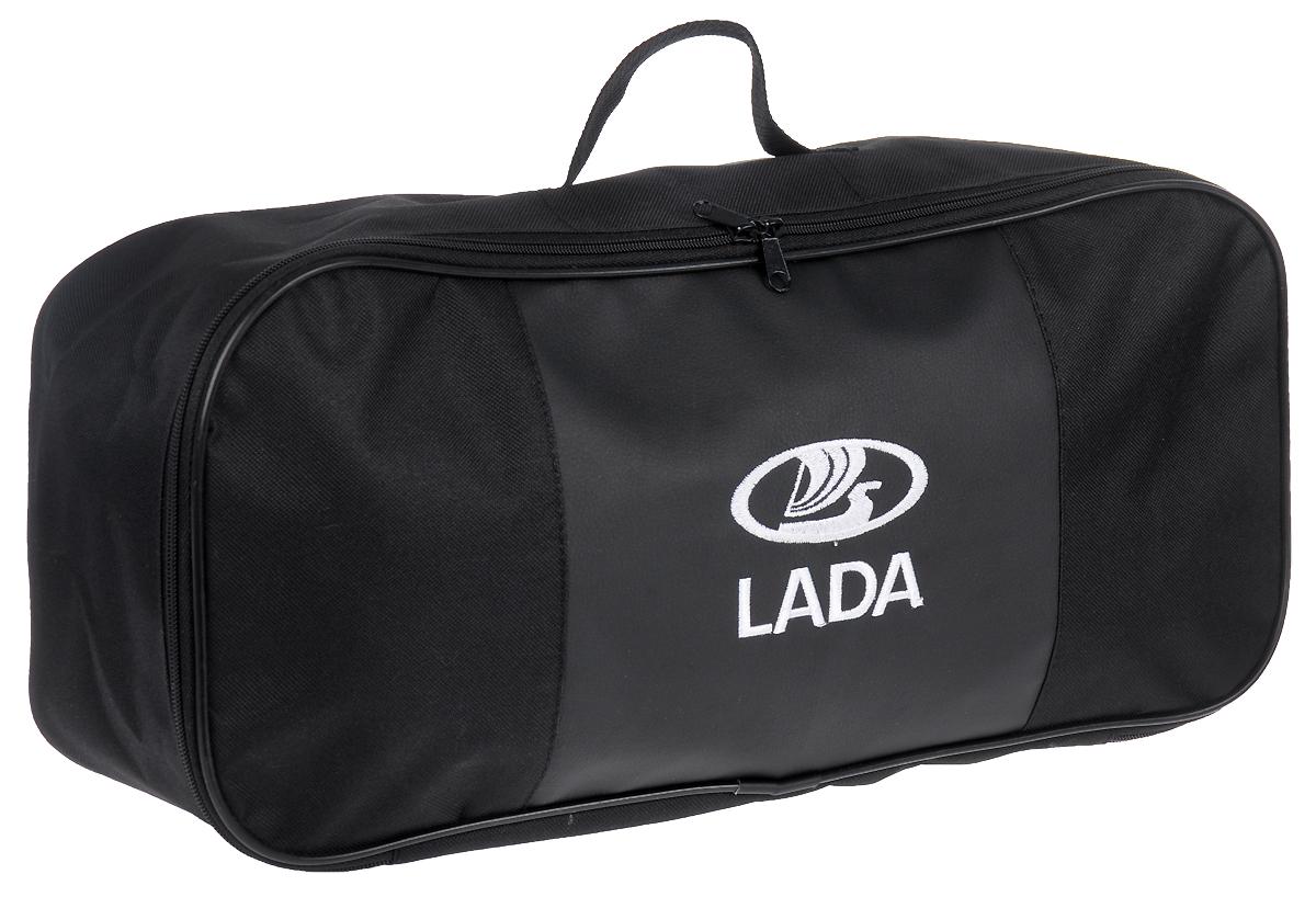Набор аварийный в сумке Auto Premium, с логотипом Lada + жилет светоотражающий, размер XL. 67472