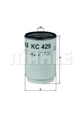 Топливный фильтр Mahle/Knecht KC429D фильтр топливный mahle kl438