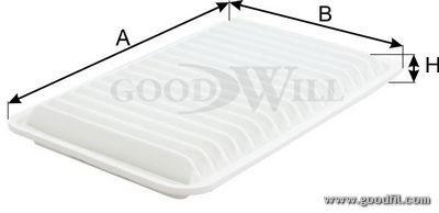 Воздушный фильтр Goodwill AG121ECO фильтр масляный goodwill og402hq