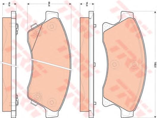 Колодки тормозные дисковые TRW/Lucas GDB1843 b1120 lucas lucas lucas