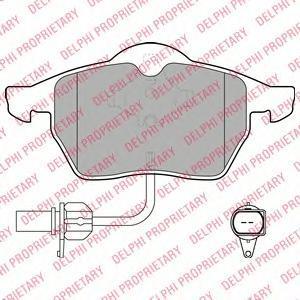 Тормозные колодки дисковые DELPHI LP1672