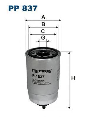 Фильтр топливный Filtron PP837 топливный фильтр filtron pp8371