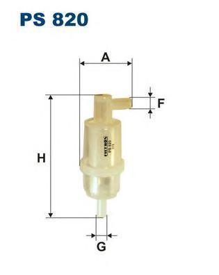 Фильтр топливный Filtron PS820 топливный фильтр filtron pp8371