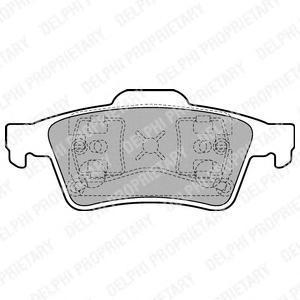 Тормозные колодки дисковые DELPHI LP1701