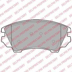Тормозные колодки дисковые DELPHI LP2081 колодки тормозные ferodo premier дисковые fdb1621