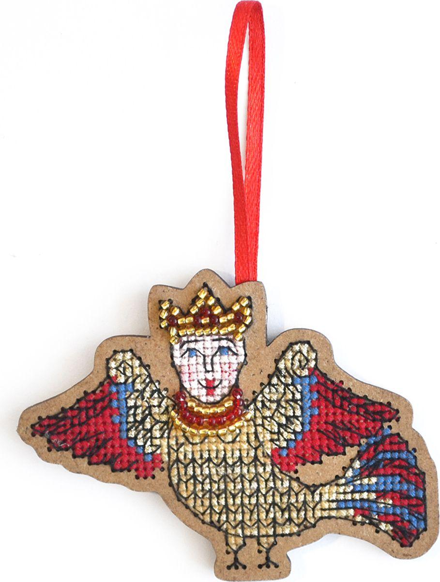 Набор для вышивания крестом Созвездие Птица счастья. Алконост птице-дева, 6,5 х 8,5 см набор для вышивания крестом созвездие добрая дорога подорожница 9 х 4 5 см
