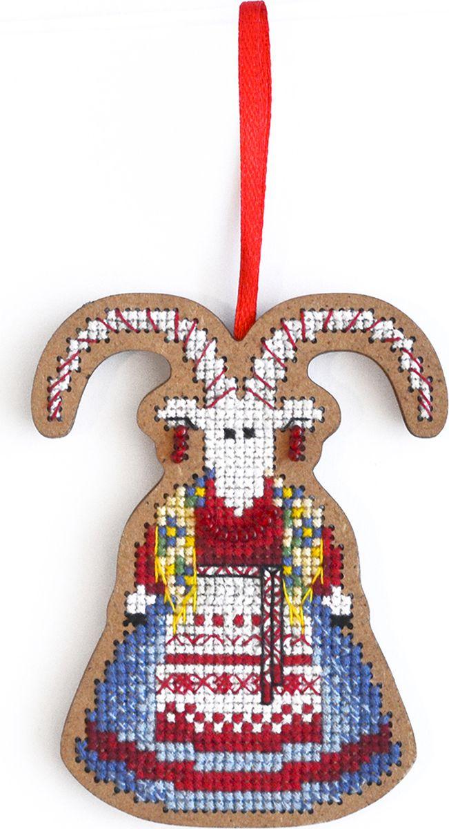 Набор для вышивания крестом Созвездие От нечистой силы. Коза, 9 х 7 см набор для вышивания крестом созвездие добрая дорога подорожница 9 х 4 5 см