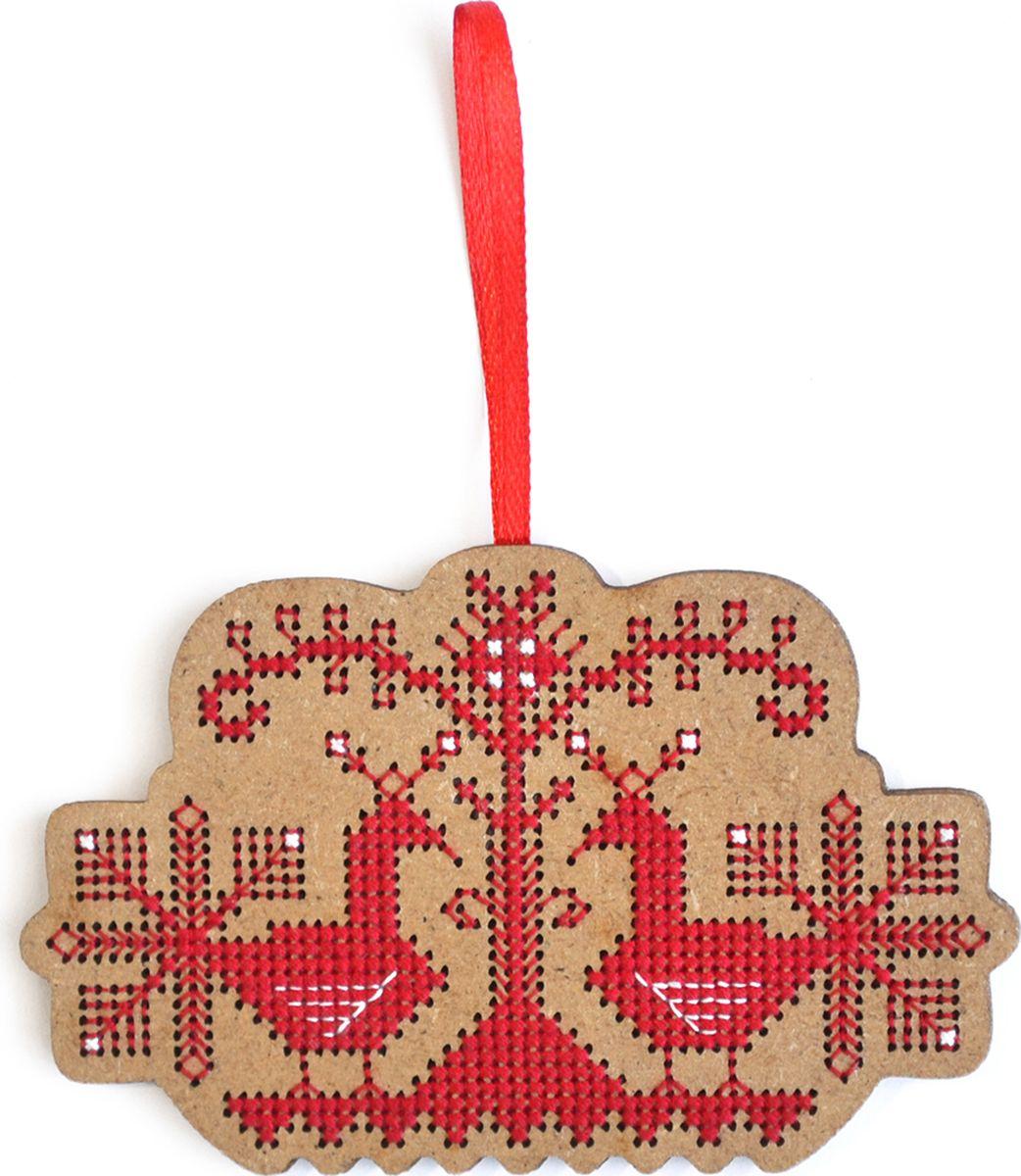 Набор для вышивания крестом Созвездие Свадебный оберег. Птицы, 6,5 х 10 см набор для вышивания крестом созвездие добрая дорога подорожница 9 х 4 5 см