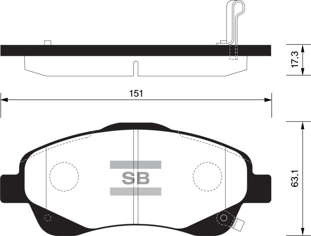 Тормозные колодки дисковые Sangsin SP1576 агломерат мотоцикл передние дисковые тормозные колодки пригодный для swm 440 серебряная ваза 2015 и до