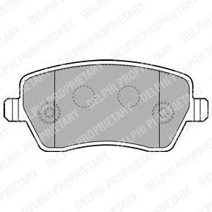 Тормозные колодки дисковые DELPHI LP1865