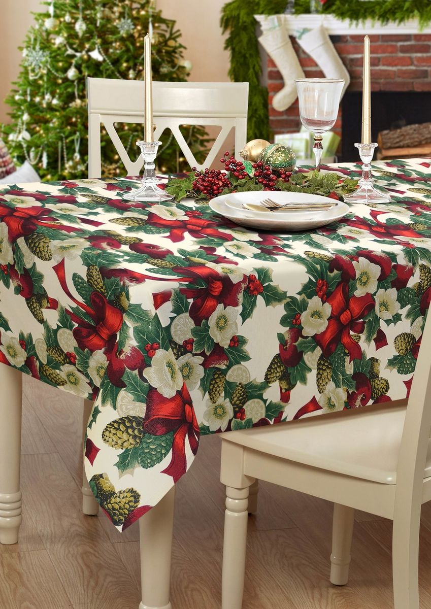 Скатерть Kauffort Рождество, прямоугольная, 136 х 160 см цена