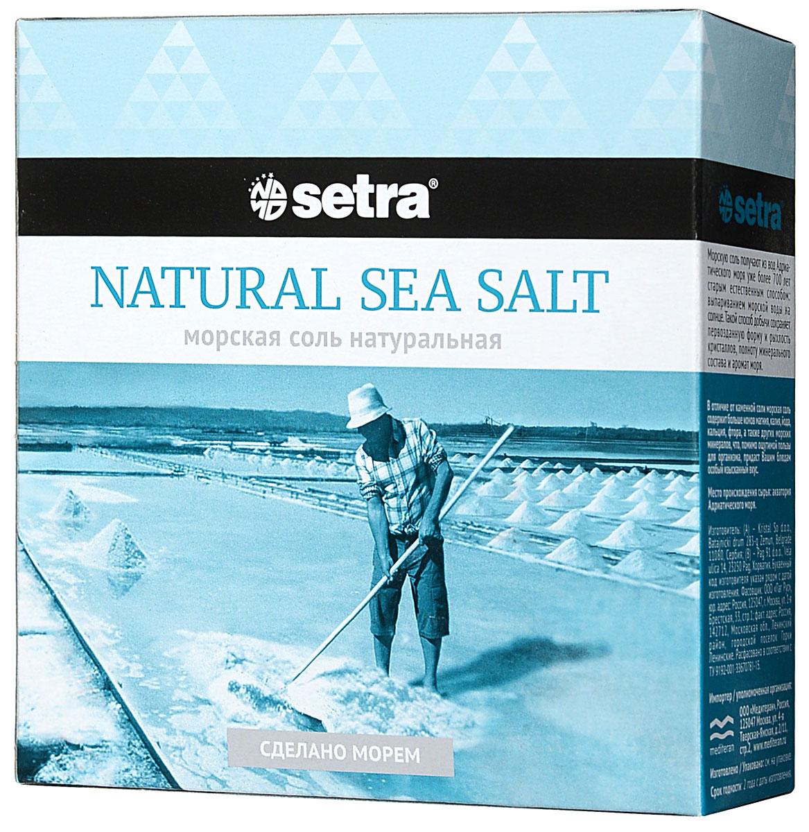 Соль Setra морская натуральная, 500 г соль setra морская мелкая йодированная 500 г